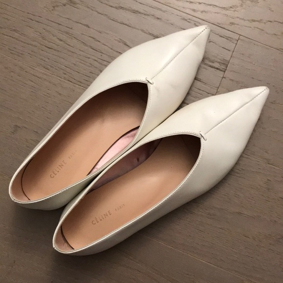 Celine Leather Pointed Toe Flats